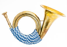 Antique post horn Stock Photography