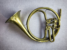 Antique post horn Royalty Free Stock Photography