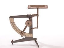 Antique postage scale Stock Image