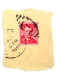 Antique postal stamp Stock Photography