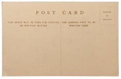 Antique postcard Stock Images