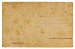Antique postcard. High resolution , highly detailed antique postcard from the early 20th century isolated on white background Stock Photos