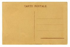 Antique postcard. High resolution , highly detailed antique postcard from the early 20th century isolated on white background Stock Photo