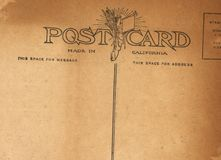 Antique Postcard. A scan of a postcard from the early 20th century Royalty Free Stock Image