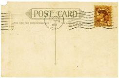 Antique Postcard. Vintage postcard with a stamp. Room to add your own message Stock Photos