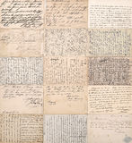 Antique postcards. old handwritten undefined texts royalty free stock image