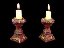 Antique pot candelabras Royalty Free Stock Photos