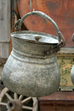 An antique pots hanging Stock Image