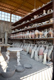 Antique pottery jugs. Pompeii, Italy antique pottery jugs Stock Photography