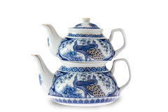 Antique pottery Turkish teapot Royalty Free Stock Images