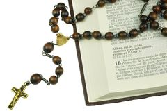 Antique prayers Stock Images