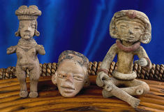 Antique Pre Columbian Figures Stock Photography
