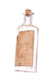 Antique Prescription Medicine Bottle. 1903 medicine bottle with label still intact, white iso Stock Photos