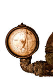 Antique Pressure Gage. An old rusty pressure gage from times gone by stock images