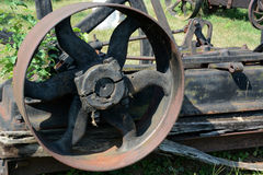 Antique pulley Royalty Free Stock Images