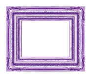 Antique purple frame isolated on white Stock Image