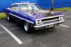 Antique purple sports car Stock Photo