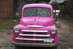 Antique purple truck in rain, Silverton, Colorado, USA Royalty Free Stock Photos