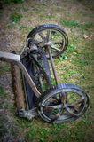 Antique Push Lawn Mower Stock Image