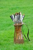 Antique quiver of arrows Royalty Free Stock Image