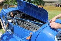 Antique racecar details Stock Images