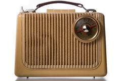 Antique radio. Old antique stereo radio isolated Royalty Free Stock Images