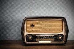 Antique radio. On vintage background royalty free illustration