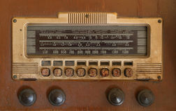 Antique Radio. Dirty faceplate of an antique radio Royalty Free Stock Photos