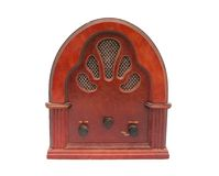 Antique radio box Stock Photos