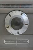 Antique radio dial. Knob and dial on 1950s radio Stock Photography