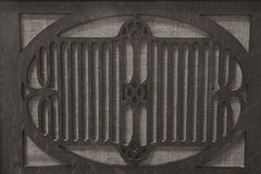 Antique Radio Grille for Gramophone Stock Photo