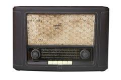 Antique radio on isolated white. Stock Photo
