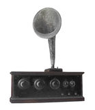 Antique radio receiver isolated. Stock Photos