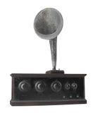 Antique radio receiver isolated. Stock Photos