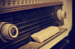 Antique radio, in sepia toning Stock Photos