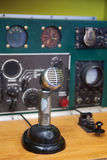 Antique Radio Set. Antique military radio set used to communicate with air force planes over long distance Royalty Free Stock Image