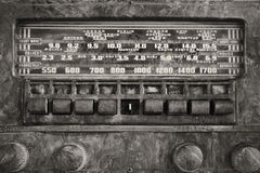 Antique Radio. An Antique Radio Showing Many Frequencies on the Dial stock photo