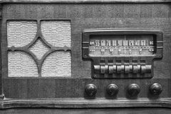 An Antique Radio Showing Many Frequencies on the Dial II Stock Image