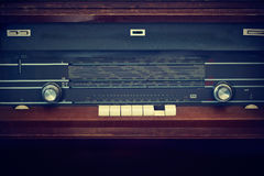 Antique radio on vintage color tone style Royalty Free Stock Image