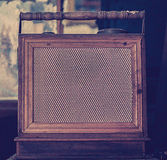 Antique radio on vintage Royalty Free Stock Images