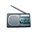 Antique radio with vintage styles Royalty Free Stock Photos