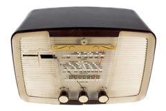 Antique radio. A vintage transistor radio against white Stock Photo