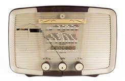Antique radio. A vintage transistor radio against white Stock Photography