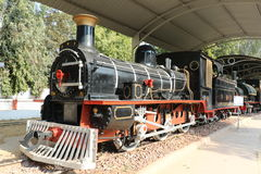 Antique rail engine Rail Museum royalty free stock photo