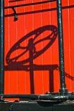 Antique Railcar Handbrake Shadow Stock Images