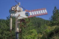Antique railroad arm semaphore Stock Photo