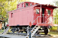 Antique railroad car north dakota Royalty Free Stock Images