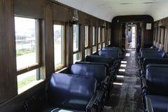 Antique railway car interior Royalty Free Stock Image