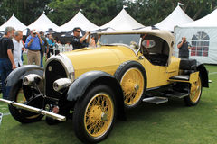 Antique and rare american car side Royalty Free Stock Images