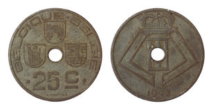 Antique rare coin of belgium Stock Photography